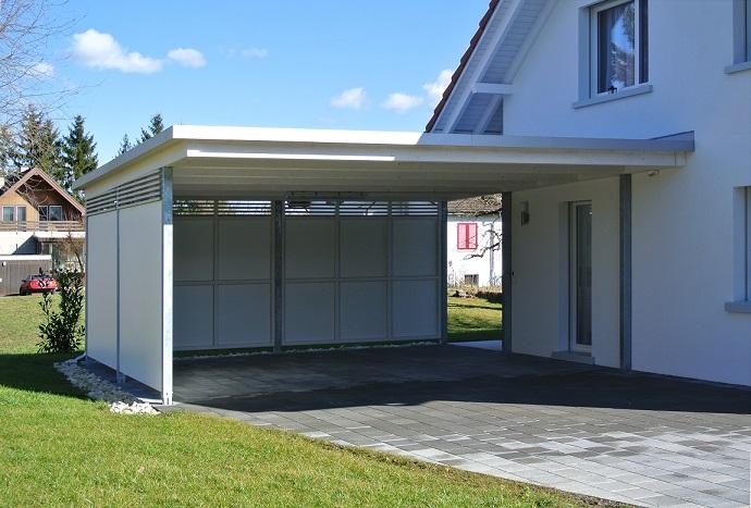 Gartenhaus metall flachdach